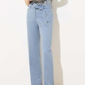 LOFT Blue Bow Belt Trousers